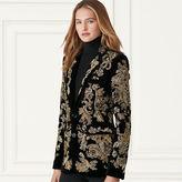 Ralph Lauren Yvette Beaded Velvet Jacket