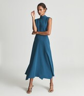 Thumbnail for your product : Reiss Livvy - Open Back Midi Dress in Teal