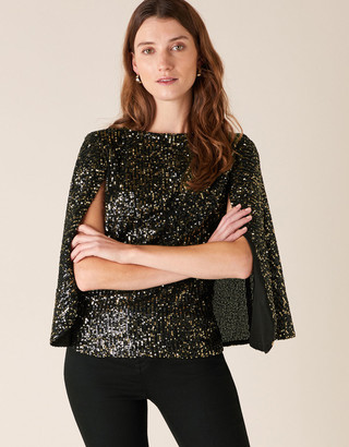 Under Armour Sabrina Sequin Stretch Lace Blouse Gold