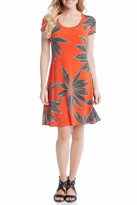Karen Kane Orange Shirt Dress