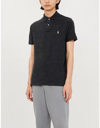 Polo Ralph Lauren Logo-embroidered custom slim-fit cotton-pique polo shirt