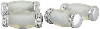 Non Branded 18K 0.40 Ct. Tw. Diamond & Crystal Cufflinks