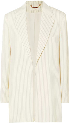 Chloé Pinstriped Canvas Blazer