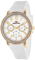 Seapro Womens Swell Silver Dial White Silicone Strap Watch Family