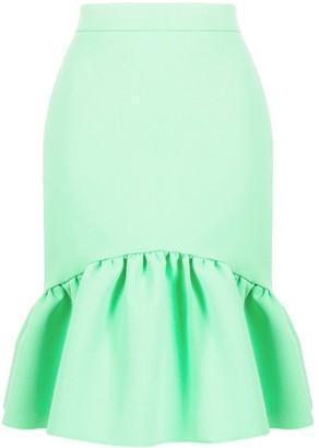 MSGM Ruffled Hem High-Waisted Skirt