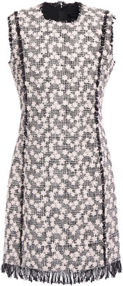 Giambattista Valli Floral Appliqued Cotton-blend Tweed Mini Dress