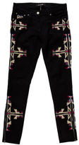 Isabel Marant Embroidered Skinny Jeans