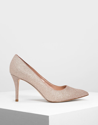 Charles & Keith Glitter Pumps