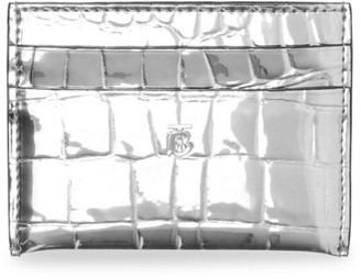 Burberry Sandon Croc-Embossed Metallic Card Case