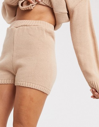 ASOS DESIGN co-ord knitted shorts in pink