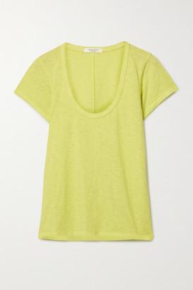 Rag & Bone Slub Pima Cotton-jersey T-shirt - Chartreuse