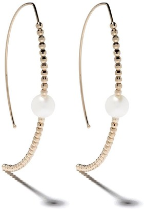 Mizuki 14kt yellow gold Sea of Beauty Marquis Akoya pearl earrings