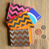 Undercover Recycled Leather Chevron Travel Card Holder