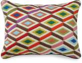 Jonathan Adler Multi Diamonds Bargello Decorative Pillow, 12 x 16
