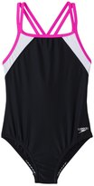 Speedo Girls' Crossback Splice One Piece (7yrs16yrs) - 42901