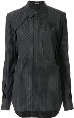 Christian Dada layered check-print skirt