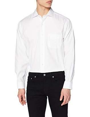 Brooks Brothers Men's Camicia Regent Taschino Manica Lunga Business Shirt, (White 100), (Size: 16H 34)