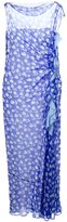 Ungaro tulip print ruffle detail dress