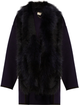 Vanessa Bruno Feuillantine detachable-fur coat