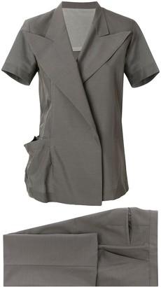Yohji Yamamoto Pre Owned Short sleeved kimono suit