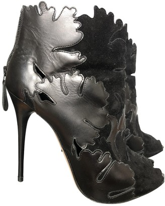 Alexander McQueen Black Suede Ankle boots
