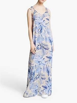 Y.A.S Komba Maxi Dress, White/Blue