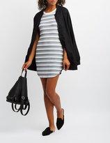 Charlotte Russe Striped Ringer Bodycon Dress