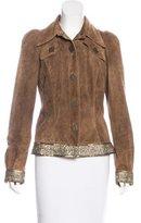 John Galliano Suede Embellished Jacket