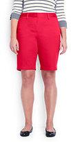 "Lands' End Women's Plus Size Mid Rise 10"" Chino Shorts-Rich Sapphire"