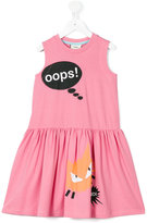 Fendi 'Oops' cat print dress - kids - Cotton/Spandex/Elastane - 10 yrs