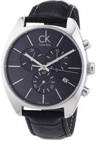 Calvin Klein Men's K2F27107 Black Leather Quartz Watch with Dial