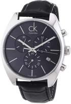 Calvin Klein Men's K2F27107 Leather Quartz Watch with Grey Dial