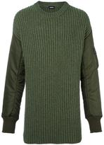 Diesel padded sleeve jumper