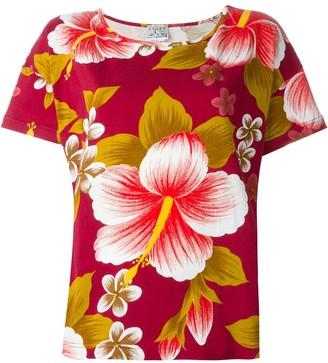 Kenzo Pre-Owned hibiscus print T-shirt