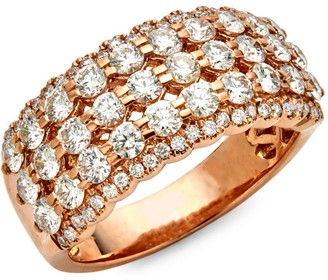 Saks Fifth Avenue 14K Rose Gold Diamond Tiered Ring