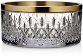 Waterford Lismore Reflection Bowl with Gold Band