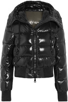 Moncler Sotiria Cropped Quilted Glossed-shell Down Jacket - Black