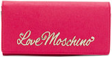 Love Moschino logo plaque wallet