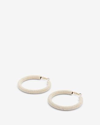 Express Yarn Wrapped Hoop Earrings