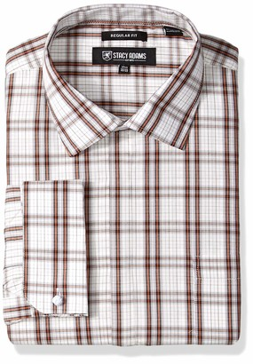 Stacy Adams Men's Big and Tall Regular Fit French Cuff Dress Shirt