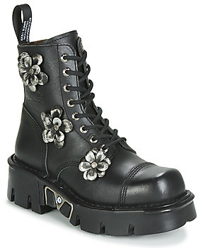 New Rock M-MILI083CFL-C3 women's Mid Boots in Black