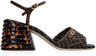 Fendi Ff Fabric Sandal