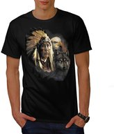 Indian American Eagle Native Wolf Men XXXL T-shirt   Wellcoda