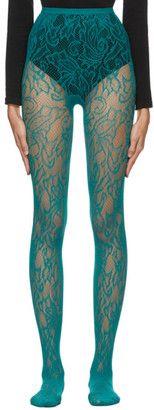 Dries Van Noten Blue Fogal Edition Lace Tights