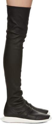 Rick Owens Black Oblique Runner Stocking Boots