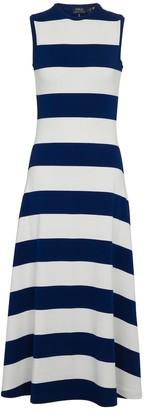 Polo Ralph Lauren Striped jersey maxi dress