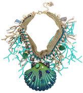 Betsey Johnson Glitter Reef Shell Statement Necklace