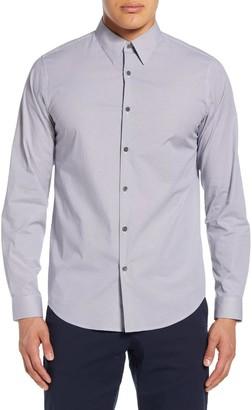 Theory Irving Douglas Slim Fit Diamond Grid Button-Up Shirt