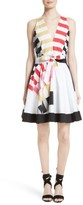 Milly Women's Lola Nautical Abstract Print Fit & Flare Dress