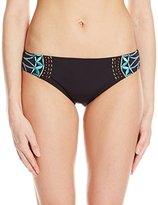 Nanette Lepore Women's Mantra Embroidery Charmer Bikini Bottom